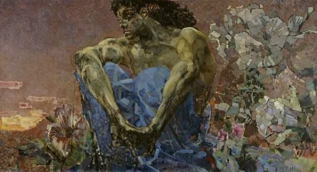 Михаил Врубель «Демон сидящий» 1890Хранится в Третьяковской галерее в Москве.