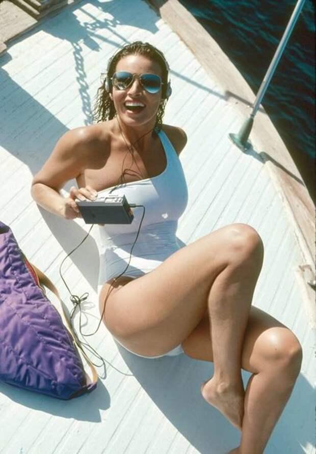 На яхте в Мексике, 1980 г.