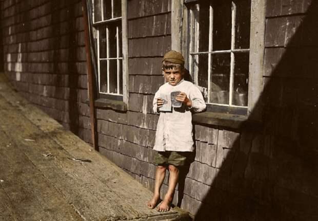 5-летний Престон, упаковщик из Истпорта, штат Мэн, 17 августа 1911 года.