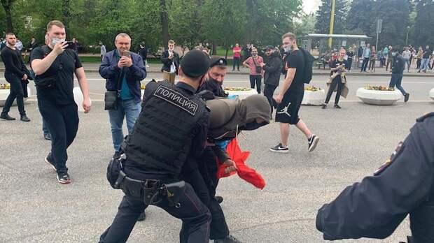 Задержание во время незаконной акции. Фото из открытых источников