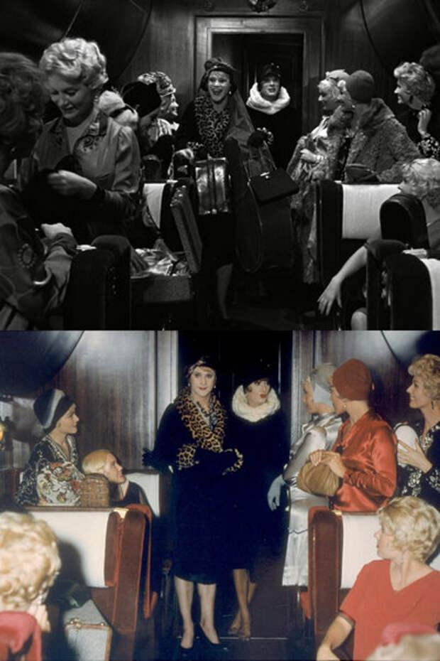 В джазе только девушки: Архивные фото в цвете и провокационные платья, взявшие Оскар