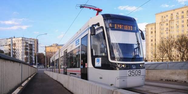 Трамвай №6 в Северном Тушине задерживается по техническим причинам