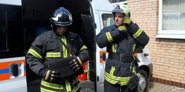 Пожарные ликвидировали возгорание у метро «Беговая»