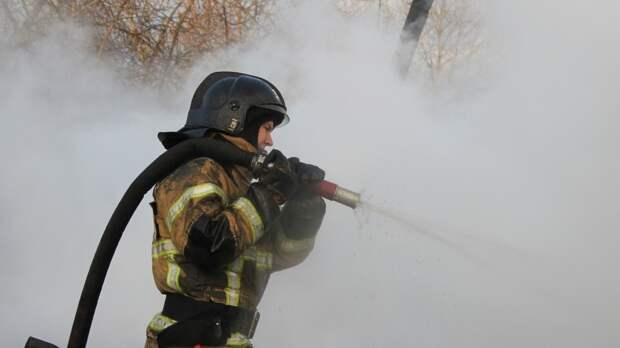 Огонь уничтожил нежилой дом в Татарстане