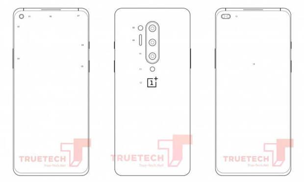 Опубликованы схематичные изображения флагманского OnePlus 8 Pro