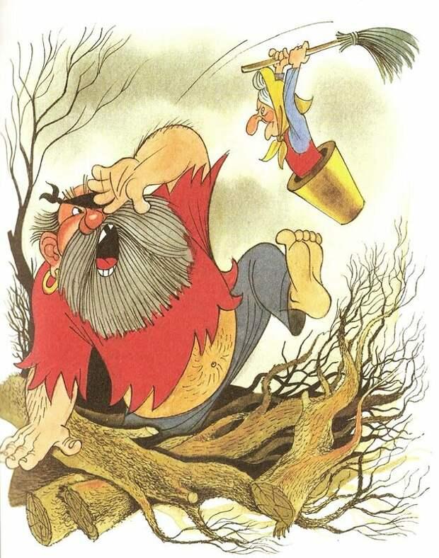 """Иллюстрация Виктора Чижикова к рассказу Э.Успенского """"Вниз по волшебной реке"""""""