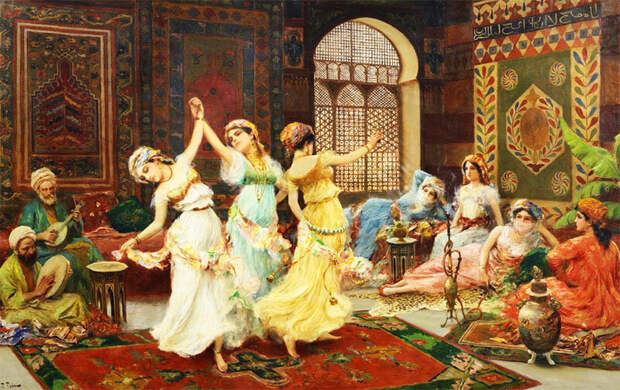 Ф. Фабби. Танцы в гареме