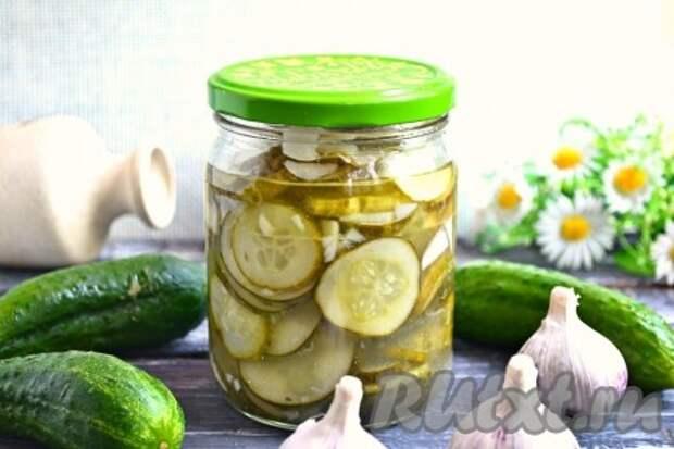 Рецепт салата из огурцов с чесноком на зиму