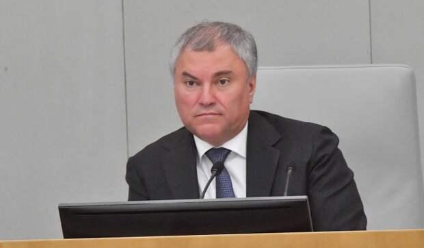 Володин допустил уголовное наказание за призывы к санкциям против россиян