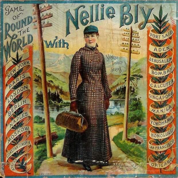 1889 год: девушка бросила вызов герою Жюля Верна, заявив, что обогнет мир за 72 дня