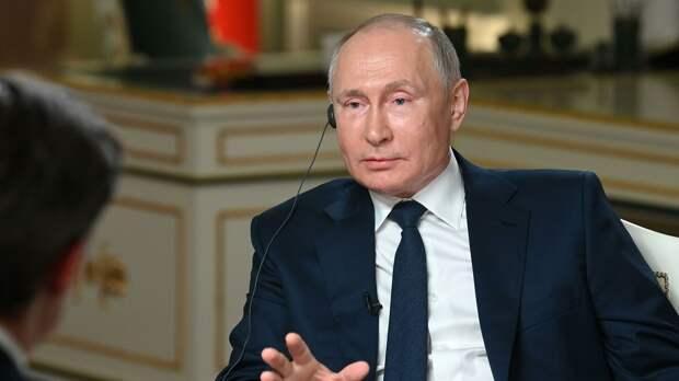 Президент РФ Владимир Путин отвечает на вопросы журналиста телекомпании NBC Кира Симмонса - РИА Новости, 1920, 14.06.2021
