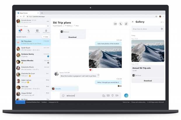 Веб-версия Skype снова работает со всеми браузерами, даже Firefox