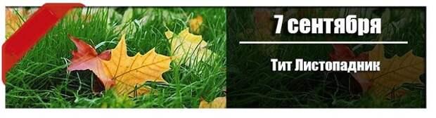 7 сентября: Тит Листопадник.