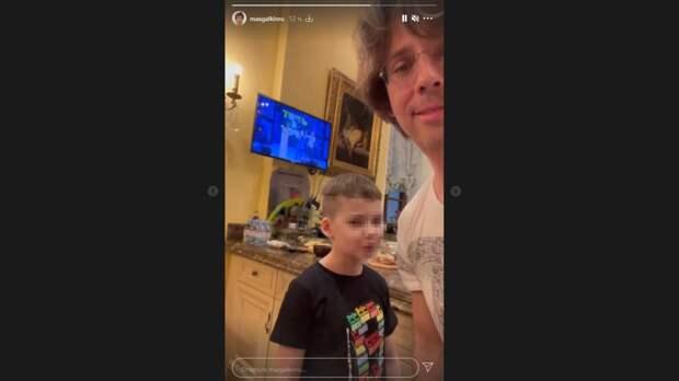 Максим Галкин похвастался новой прической своего семилетнего сына
