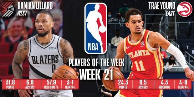 Дэмиан Лиллард и Трэй Янг – лучшие игроки недели в НБА
