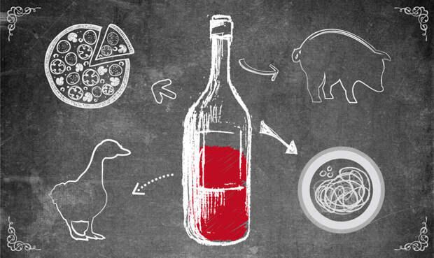 Сочетание вина с едой
