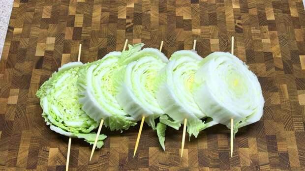 кусочки пекинской капусты