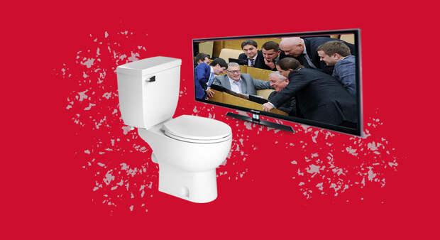 В Госдуме предложили транслировать заседания в туалете