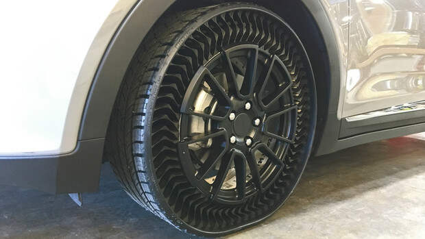 Изобретены шины, которые никогда не нужно накачивать
