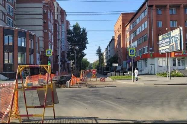 Мэрия Томска скорректировала время перекрытия проспекта Фрунзе