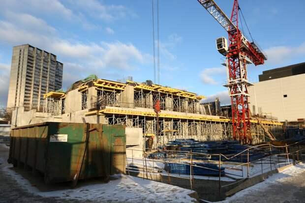 В Марфине началось строительство жилого дома по реновации