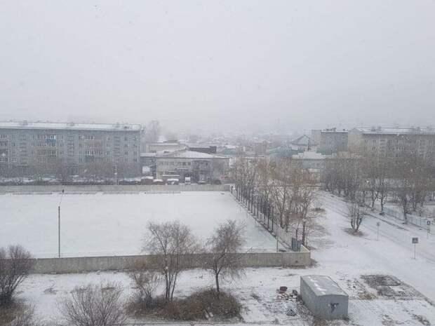 На Читу обрушился первый обильный снегопад