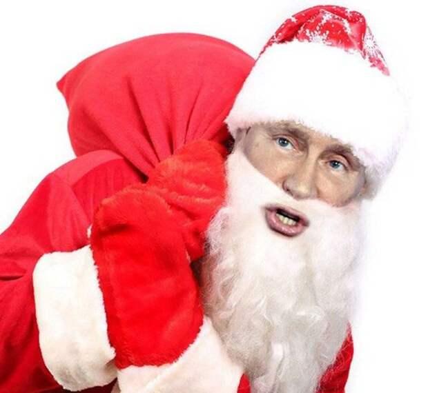 Новогодняя открытка Президенту РФ В.В. Путину от Карачуна