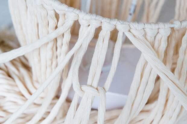 Стильная вещь для интерьера из обычной хлопчатобумажной веревки