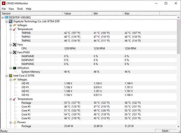 cpuid hwmonitor windows 10 monitoring tool