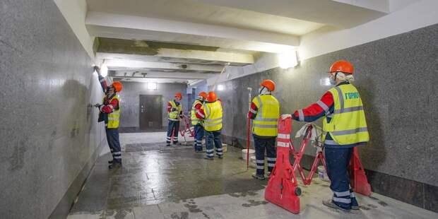 Подземный переход в парк Братцево отремонтируют уже в этом году