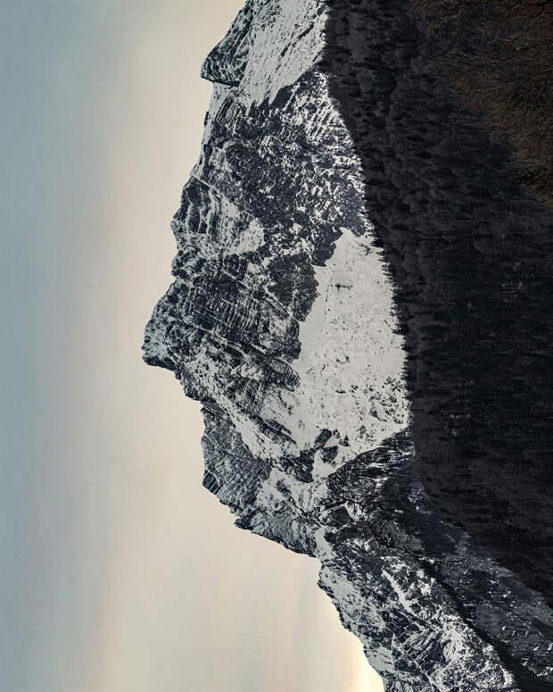 Фотографии горных пейзажей, которые похожи на человеческие профили
