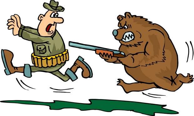 Всегда будьте готовы, что медведь может потыкать вашей палочкой в ответ