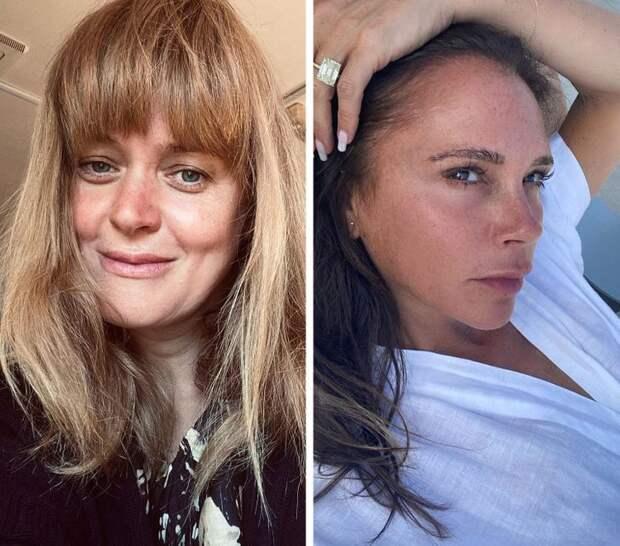 Знаменитости: Анна Михалкова и Виктория Бекхэм