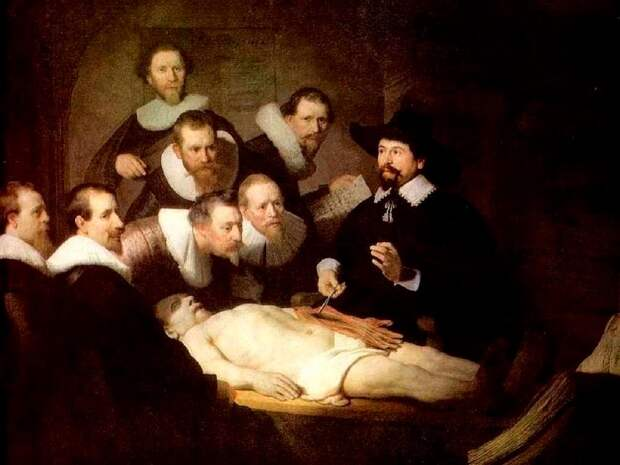 Картина Рембранта «Урок анатомии доктора Тульпа».