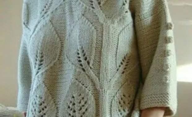 Узор спицами для шикарного пуловера