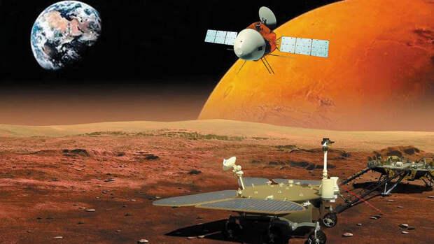 Китайский аппарат впервые в истории успешно сел на Марс