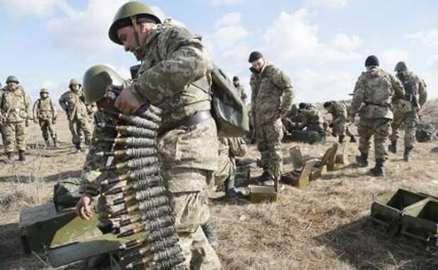 На фото: вооруженные силы Украины
