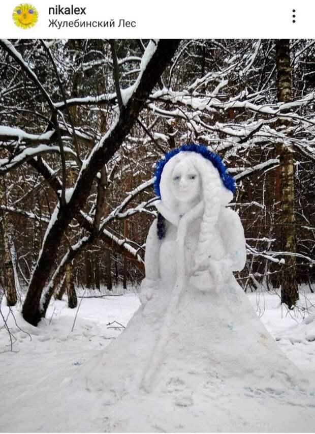 В Жулебинском лесопарке поселилась настоящая Снегурочка