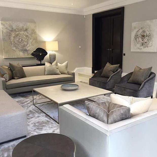 дизайн интерьера гостиной в белом цвете