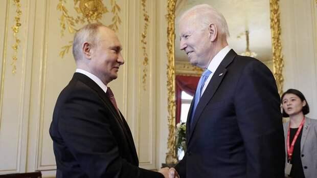 Переговоры Путина и Байдена начались за закрытыми дверями