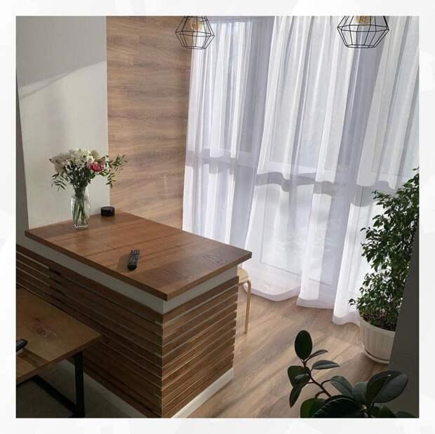 До и После. Объединение гостиной с балконом. Увеличение жилой площади за счет демонтажа оконной рамы