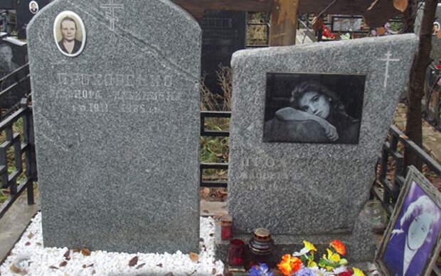 могила актрисы Хованское кладбище