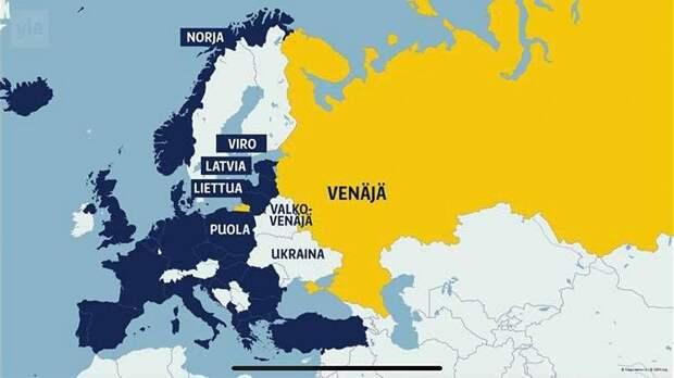 Украина возмутилась появлению карты с российским Крымом на финском ТВ