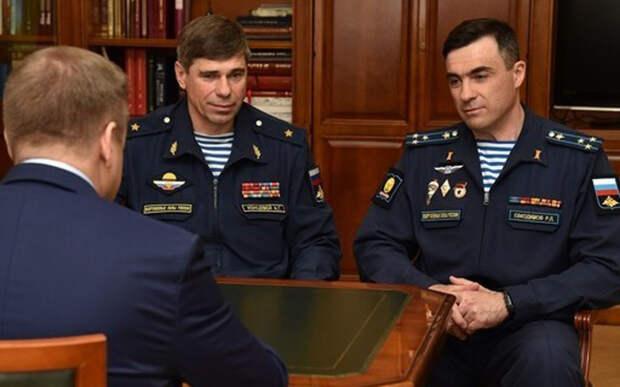 Николай Любимов встретился с новым начальником Рязанского десантного училища Русланом Евкодимовым