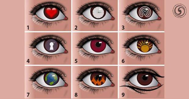 Тест - выберите глаз и узнайте что-то новое о себе