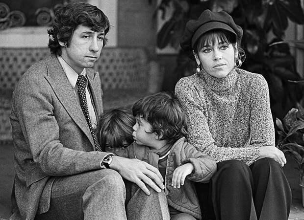 Джейн со вторым мужем Томом Хайденом и их детьми