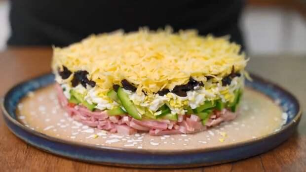 Салат, от которого не оторвётесь. Всё нарезается за 5 минут и праздничный салат готов