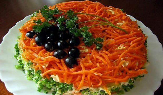 Нежный слоеный салат «КРЫМСКАЯ НОЧЬ»