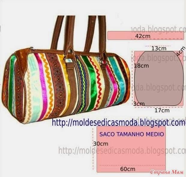 Моделирование вместительных сумочек из ткани 3