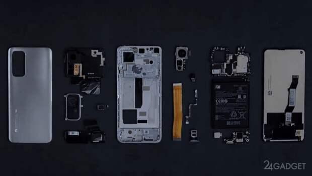 Представлено официальное видео разборки смартфона Xiaomi Mi 10T Pro